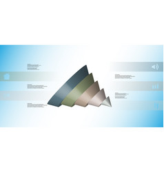 3d infographic template with cone sliced to five vector image