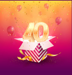 40 th years anniversary design element vector