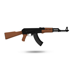 A kalashnikov ak-47 assault rifle weapon firearm vector