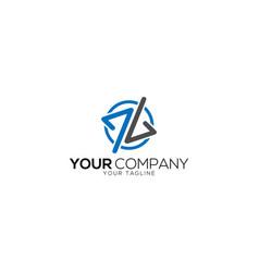 Aa and av letter logo design template vector