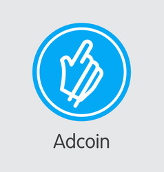 Adcoin crypto currency coin pictograph vector