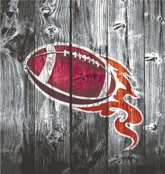 American football black woodboard vector