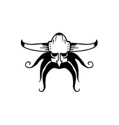 Ancient viking head logo vector