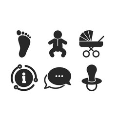 Bainfants icons buggy and dummy symbols vector