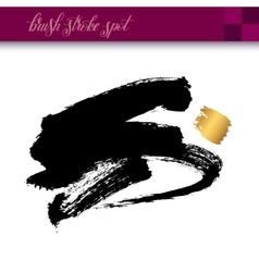 Black ink hand drawing brush strokes element vector