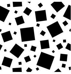 black squares on white background vector image