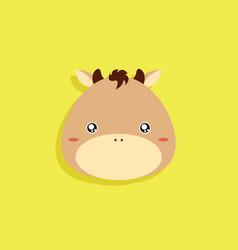 cartoon horse face vector image