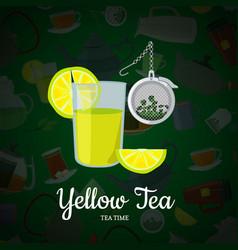 cartoon tea kettles and cups vector image