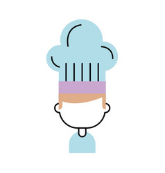 Chef avatar character icon vector