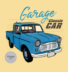 classic car vintage style hand draw s vector image