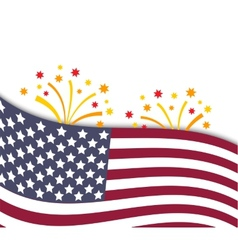 Colorful of independence day USA vector image