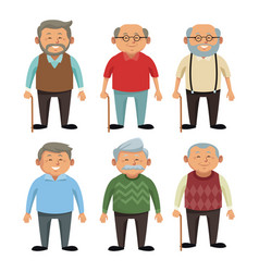Cute grandparents cartoon vector
