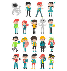 diverse people set vector image
