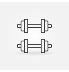 Dumbbell line icon vector image