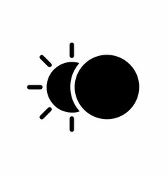 eclipse icon flat design vector image