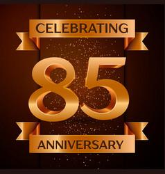 eighty five years anniversary celebration design vector image