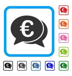 euro financial transactions framed icon vector image
