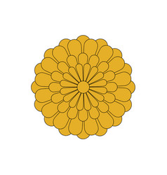 flower icon flower chrysanthemum vector image