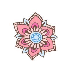 flower t-shirt print design vector image