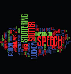 Fluent speech and how to achieve it text vector