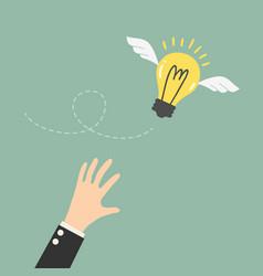 flying idea vector image