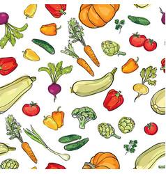 Food ingredient seamless watercolor pattern vector