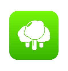 forest icon green vector image