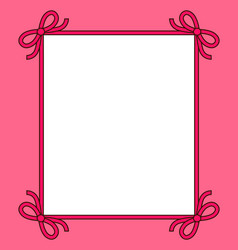 frame with bows of ribbon vector image