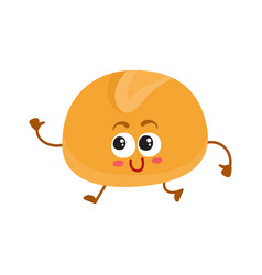 funny english breakfast burger bun character with vector image
