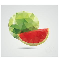 geometric polygonal fruit triangles watermelon vector image