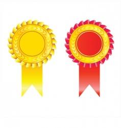 Golden badges vector