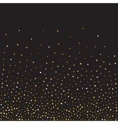 Golden glitter shine texture on a black background vector