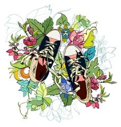 Gumshoes sketch flower vector image