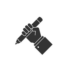 hand holding pencil icon vector image