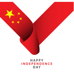Happy china independence day template design vector