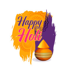 Happy holi festival of colors background vector