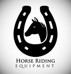 Horse Riding design vector