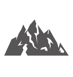 Ice Mountain isolated icon vector