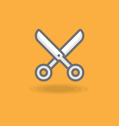icon a hairdresser scissors vector image