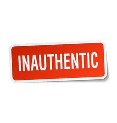 Inauthentic square sticker on white vector