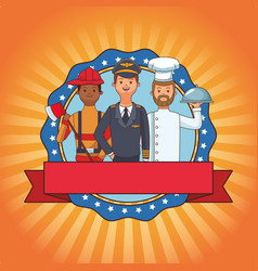Labor day cartoon vector