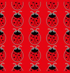 ladybug seamless pattern art background vector image