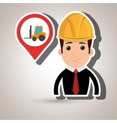 man and mounted load isolated icon design vector image
