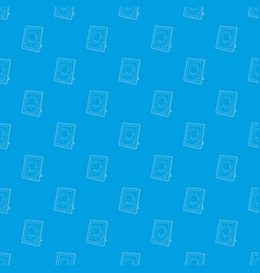 memory portrait pattern seamless blue vector image