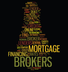 Mortgage brokers for home loan refinance vector