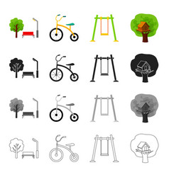 nature recreation entertainment and other web vector image