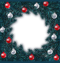 new year christmas blue branch of spruce in a vector image