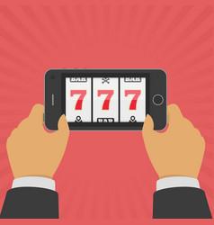 online casino smartphone vector image