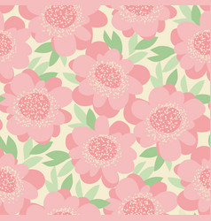 pastel decorative tender flowers seamless pattern vector image