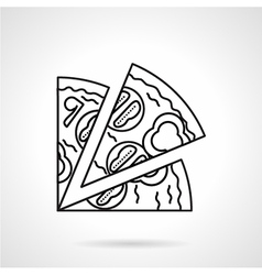 Pizza black line icon vector